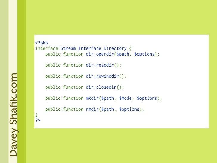 <?php                   interfaceStream_Interface_Directory{                   publicfunctiondir_opendir($path,$o...