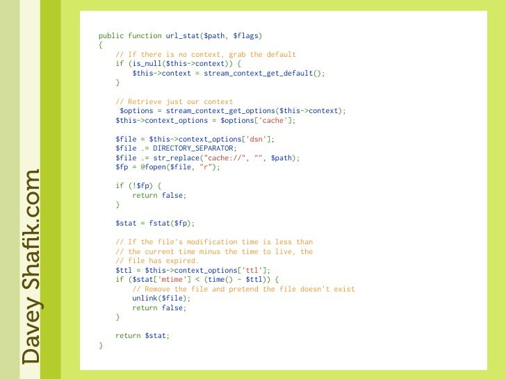 publicfunctionurl_stat($path,$flags)                   {                   //Ifthereisnocontext,grab...