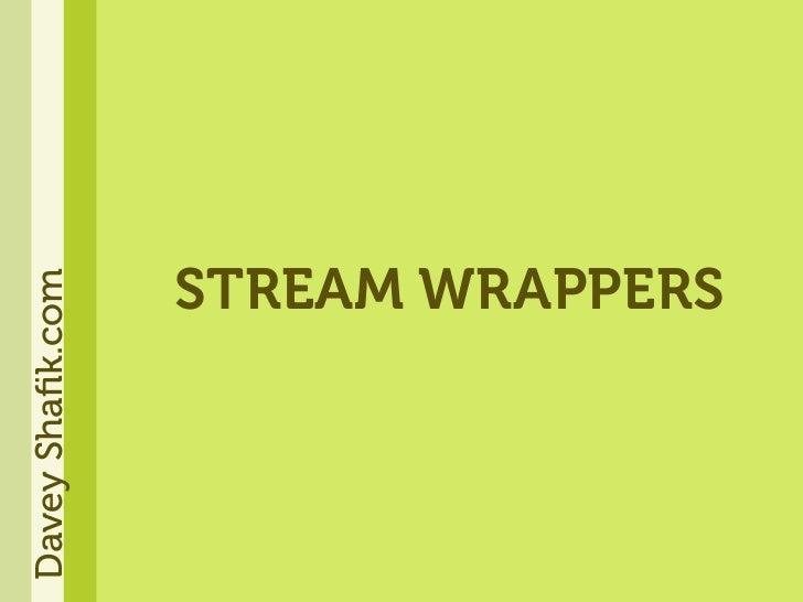 STREAM WRAPPERS Davey Shafik.com