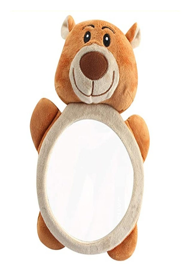 Rear Facing Mirrors Rear View Car Mirror Soft Bear Frame Baby Car Mirror Backseat Baby Mirror Shatterproof