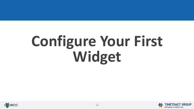 12 Configure Your First Widget