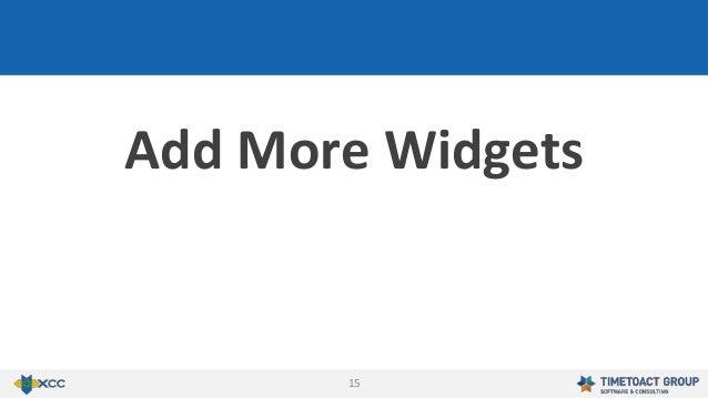 15 Add More Widgets