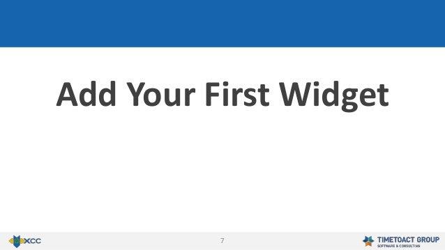 7 Add Your First Widget