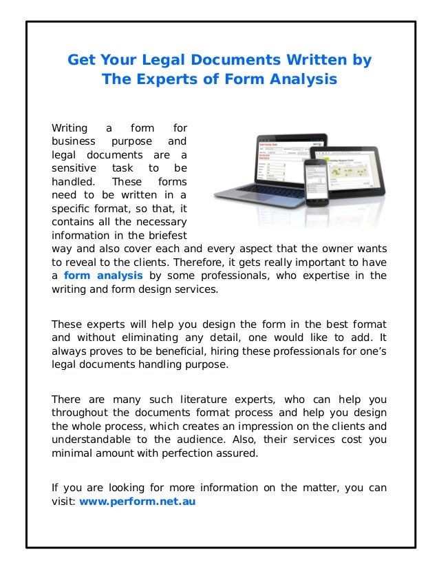 Get Your Legal Documents Written By The Experts - Help with legal documents