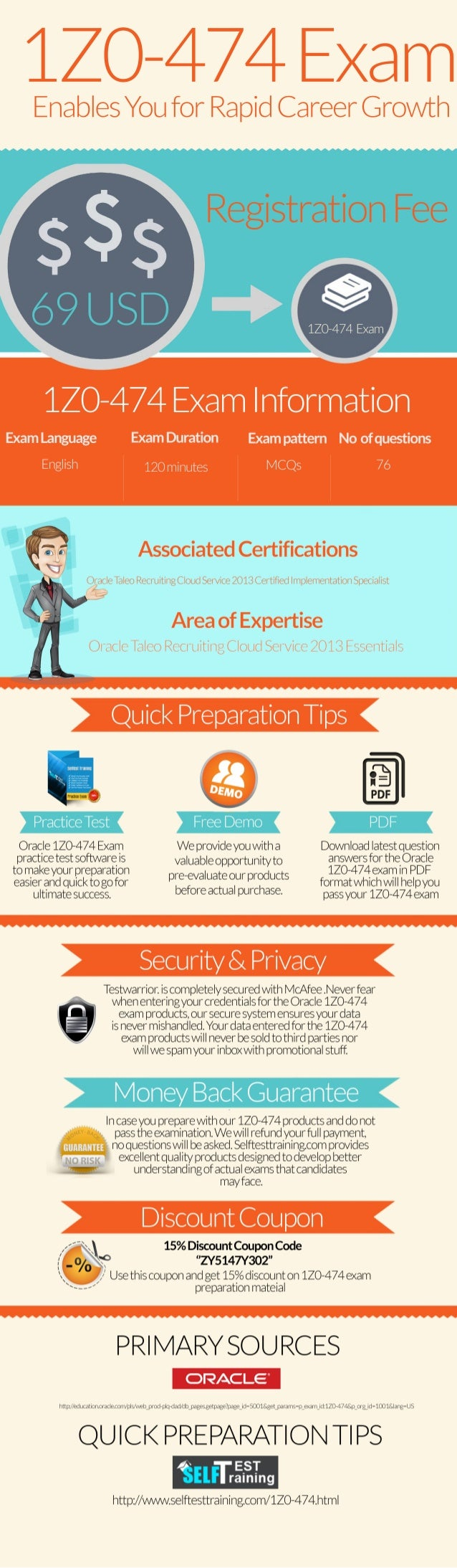 Get 1z0-474 exam real questions & practice test [infographic]