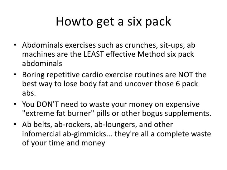 Best Routine To Get A Six Pack