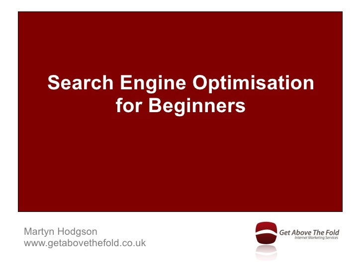 Search Engine Optimisation for Beginners