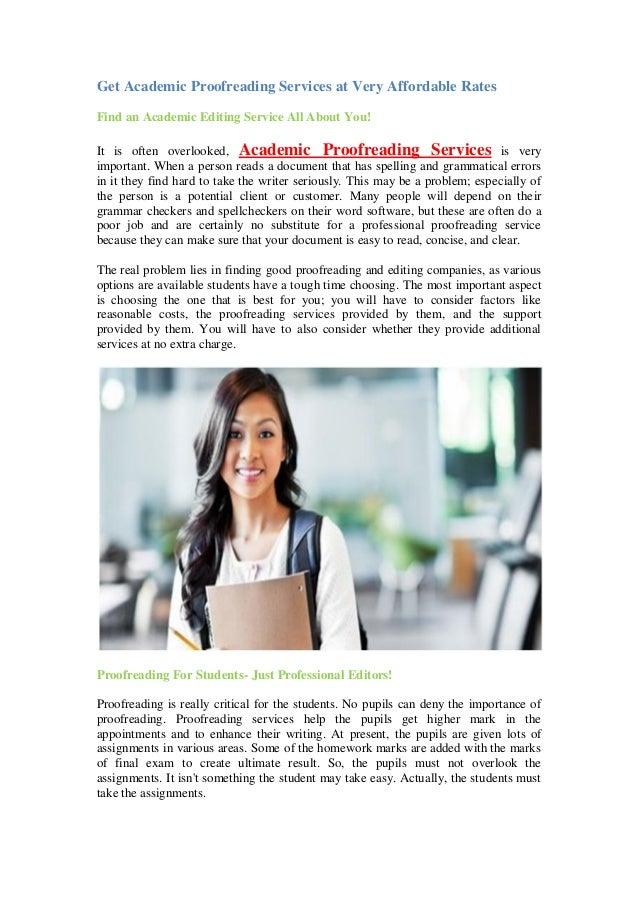 Academic proofreading services uk