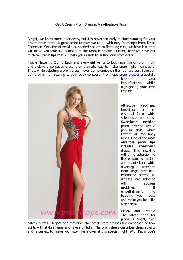 Get a dream prom dress at an affordable price