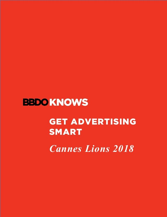 GET ADVERTISING SMART Cannes Lions 2018