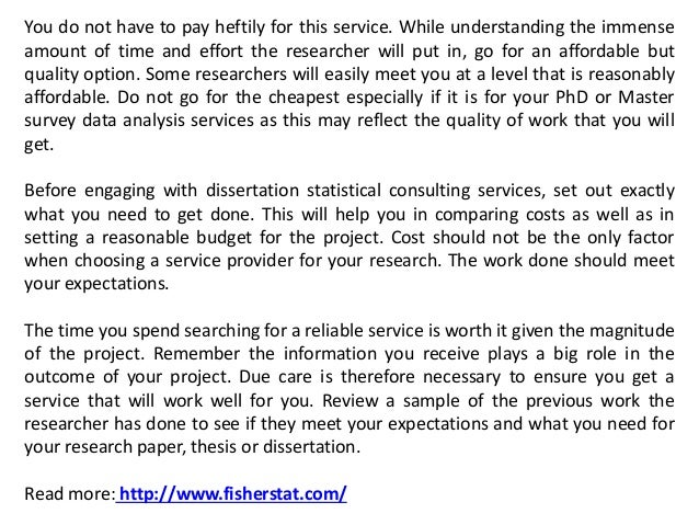 Dissertation statistical services financial