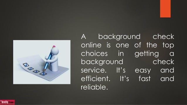 Get a Full Background Check Online