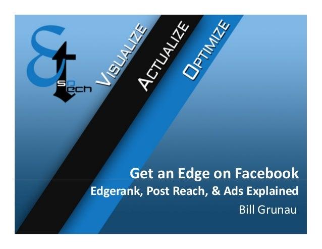 GetanEdgeonFacebook Edgerank,PostReach,&AdsExplained BillGrunau
