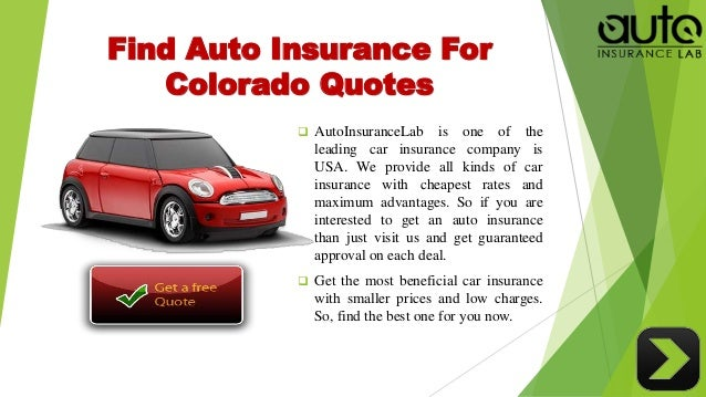 Most Affordable Car Insurance Colorado