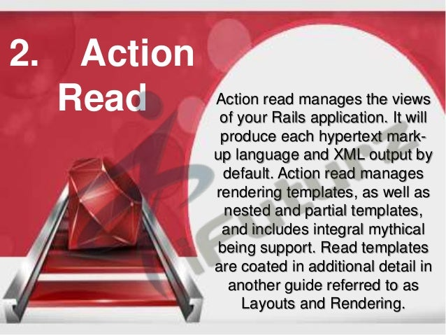 What are the major components of ruby on rails for Rails render template