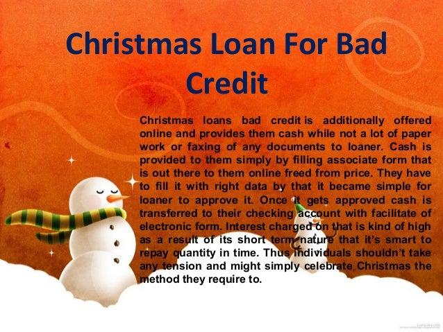 christmas loan for bad credit - Christmas Loans For Bad Credit