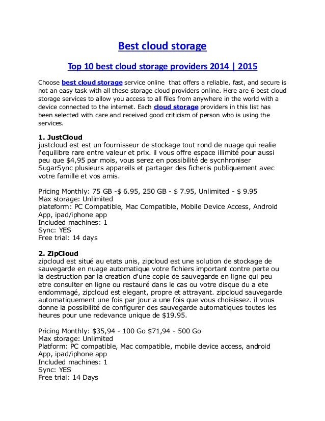 Best cloud storage Top 10 best cloud storage providers 2014 | 2015 Choose best cloud storage service online that offers a ...