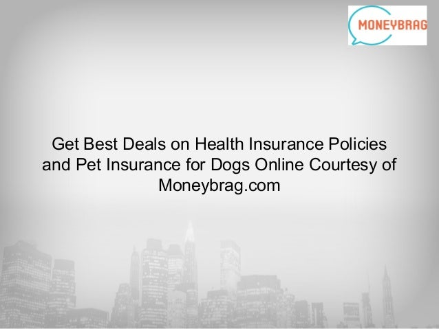 Get Best Deals on Health Insurance Policies and Pet Insurance for Dogs Online Courtesy of Moneybrag.com