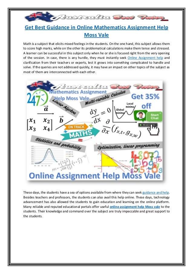 Get best guidance in online mathematics assignment help moss vale