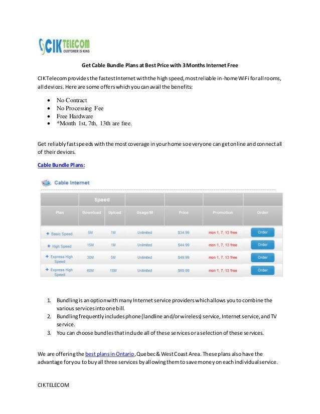 CIKTELECOM Get Cable Bundle Plans at Best Price with 3 Months Internet Free CIKTelecomprovidesthe fastestInternetwiththe h...