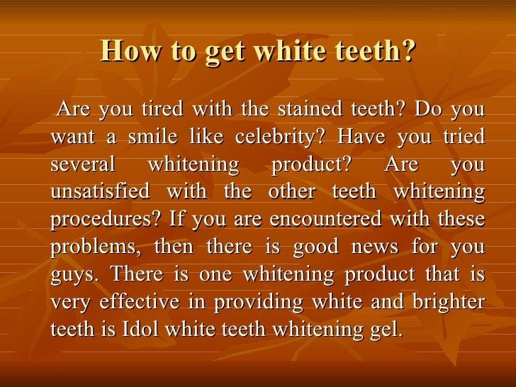 Idol white teeth whitening Slide 2