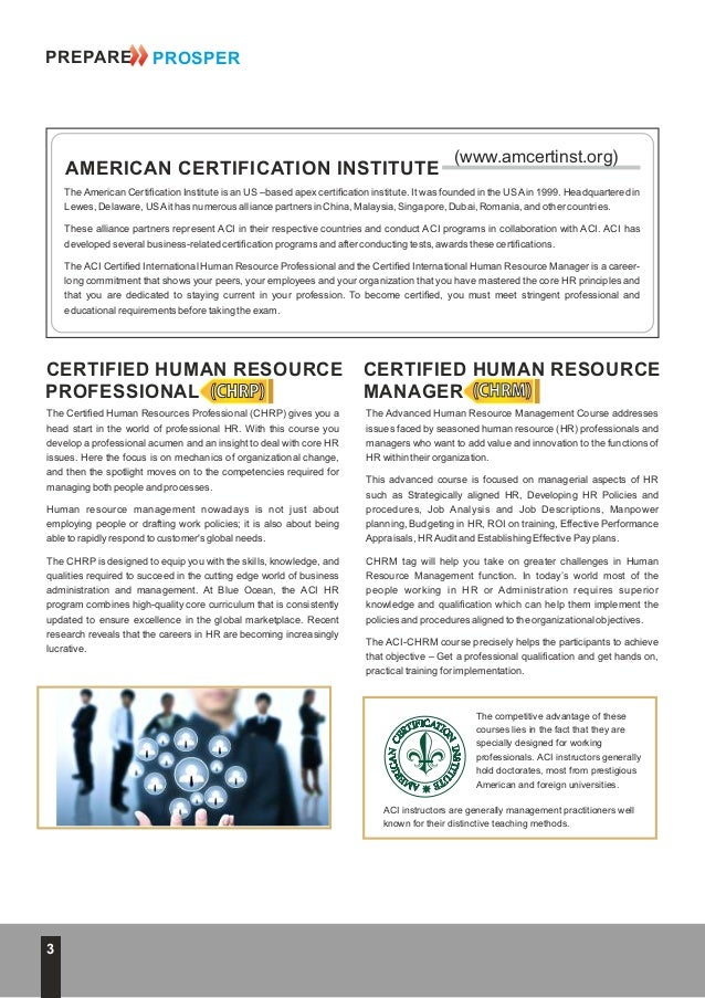Get Certified in Human Resources CHRP CHRM UAE