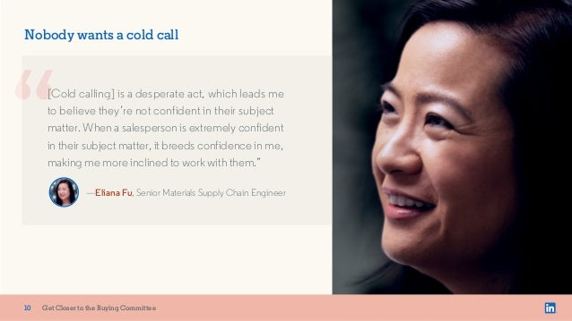 x Nobody wants a cold call [Cold calling] is a desperate act, which leads me to believe they're not confident in their sub...