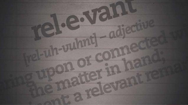 Stay Relevant! Slide 2