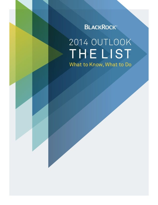 2014 OUtlook  THE LIST  What to Know, What to Do