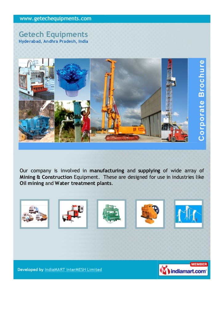 Getech EquipmentsHyderabad, Andhra Pradesh, IndiaOur company is involved in manufacturing and supplying of wide array ofMi...