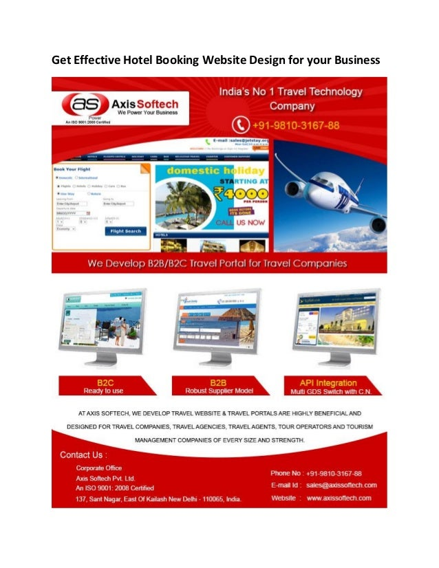 Get Effective Hotel Booking Website Design for your Business