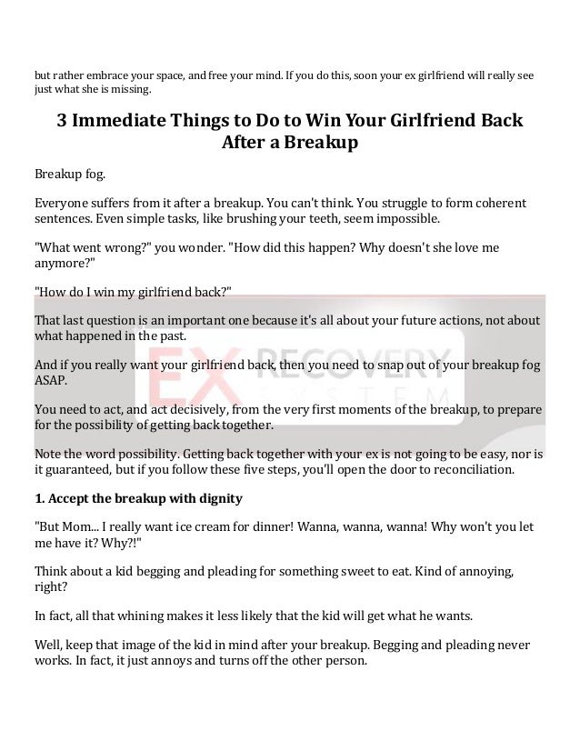 Use reverse psychology to get your ex girlfriend back