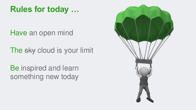 Have an open mind The sky cloud is your limit Be inspired and learn something new today Rules for today …