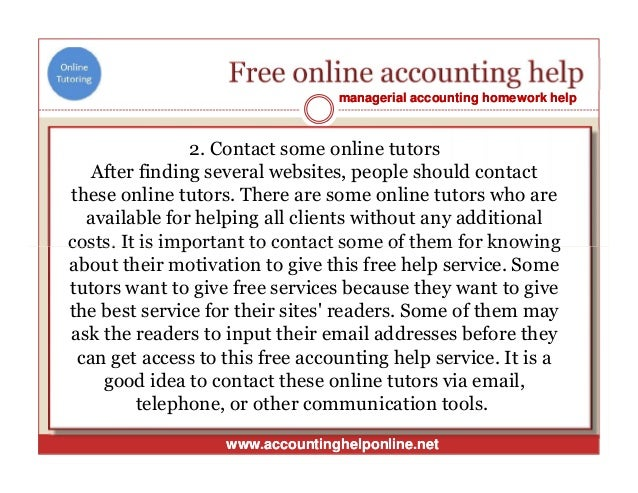 Accounting assignment help australia - Stonewall Services