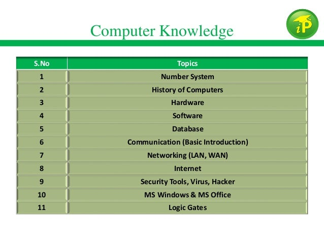 Computer Knowledge For Bank Po Exams Pdf