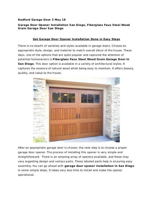 Get Garage Door Opener Installation Done In Easy Steps