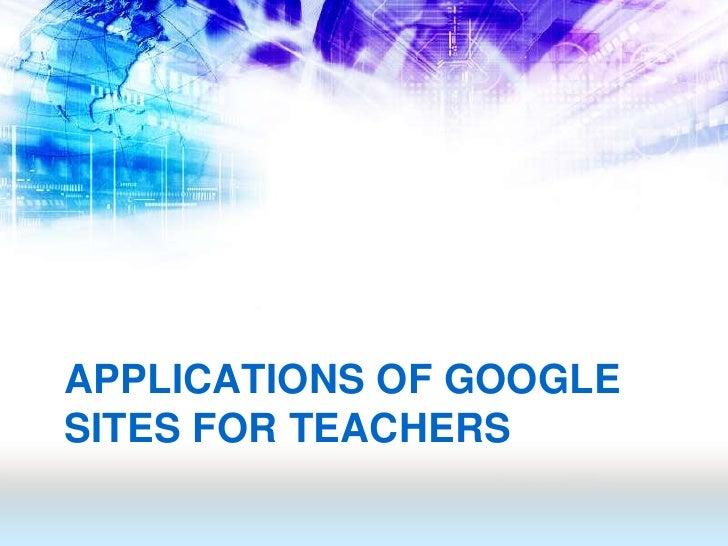 how to create a google site for teachers