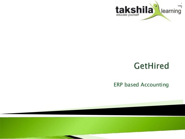 ERP based Accounting