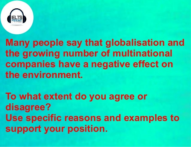 Globalization on the environment essay