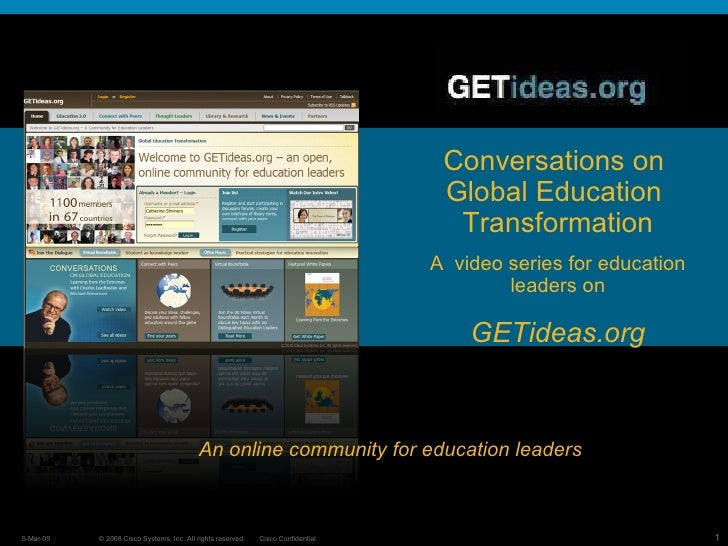 The Evolution of Education 3.0: Michael Stevenson Vice President Cisco Global Education   A Movement for 21st  Century Lea...