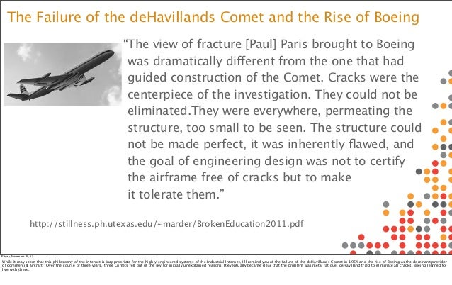 The Failure of the deHavillands Comet and the Rise of Boeing                                                              ...