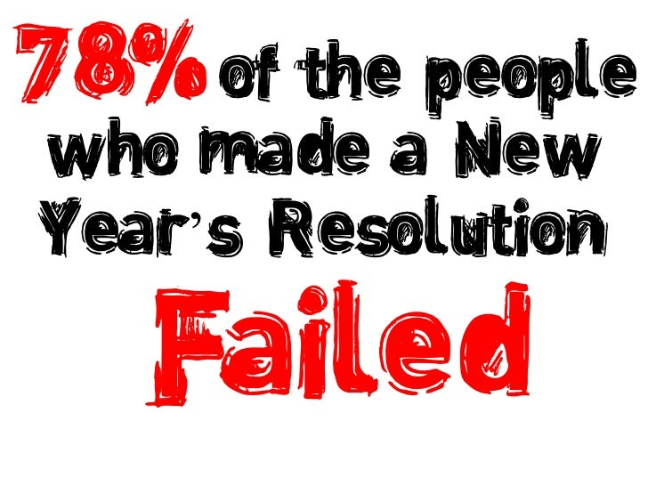 of the people who made a New Year's Resolution<br />78% <br />Failed<br />