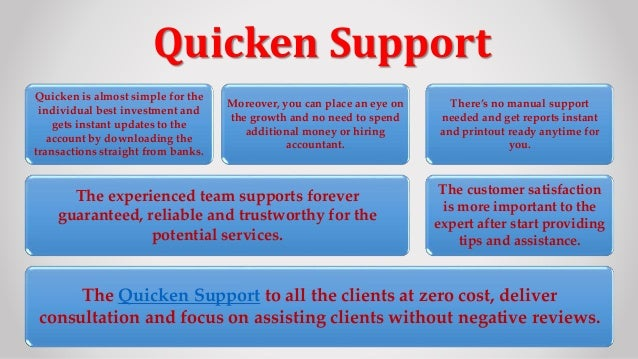 Get Instant and Proper Quicken Support for Windows and MAC