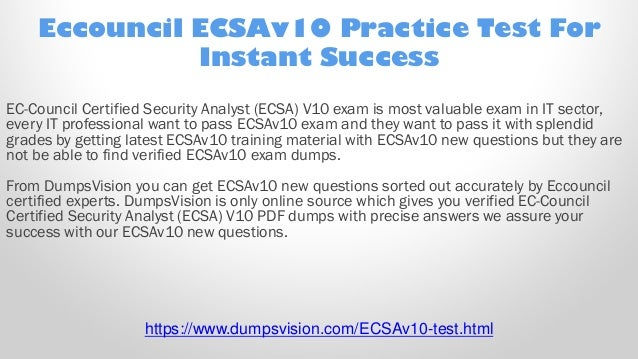 EC-Council ECSAv10 Certified Security Analyst ECSA V10 Test Exam QA PDF+SIM