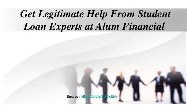 Get Legitimate Help From Student Loan Experts at Alum Financial Source: https://bit.ly/2W0xUHr