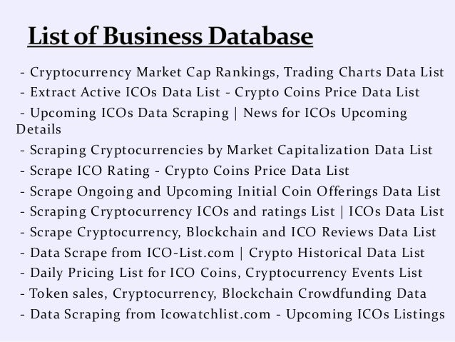 cryptocurrency list live