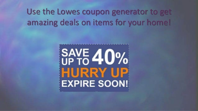 Get Lowes Coupons