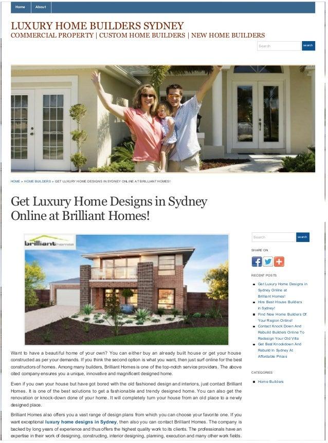 Get luxury home designs in sydney online at brilliant homes!