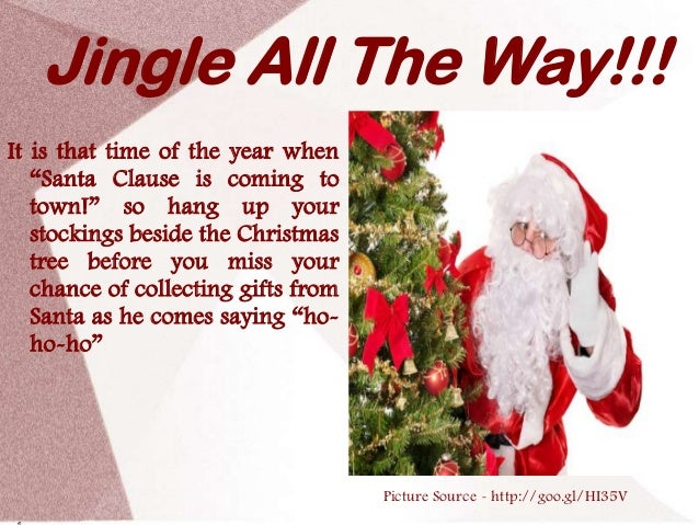 """Jingle All The Way!!!It is that time of the year when   """"Santa Clause is coming to   town!"""" so hang up your   stockings be..."""