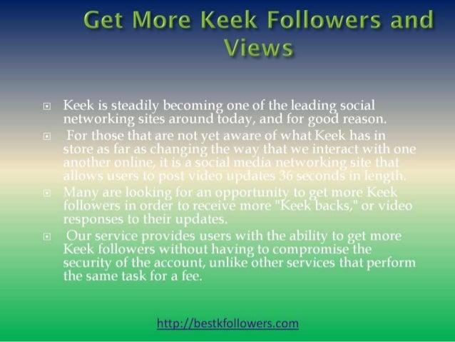Get many followers on keek free Slide 2